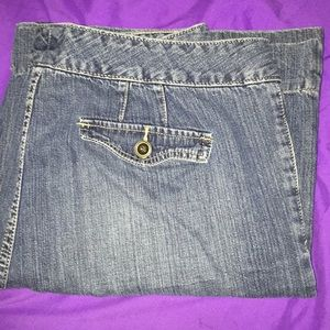 Plus sized flare jeans